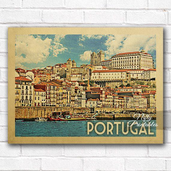 Portugal Vintage Travel Poster