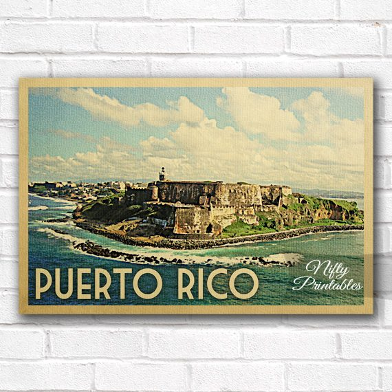 Puerto Rico Vintage Travel Poster