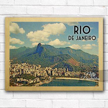 Rio De Janeiro Vintage Travel Poster