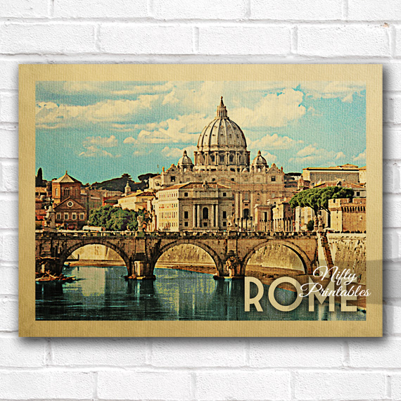 Rome Vintage Travel Poster Nifty Printables