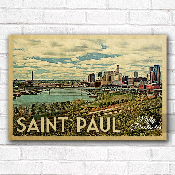 Saint Paul Vintage Travel Poster