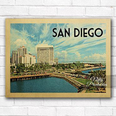 San Diego Vintage Travel Poster