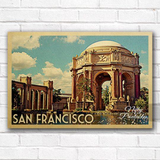 San Francisco Vintage Travel Poster