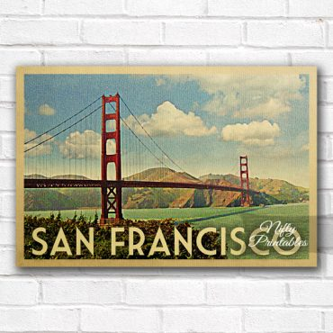 San Francisco Vintage Travel Poster