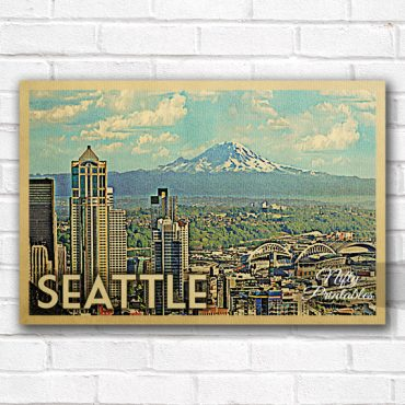 Seattle Vintage Travel Poster