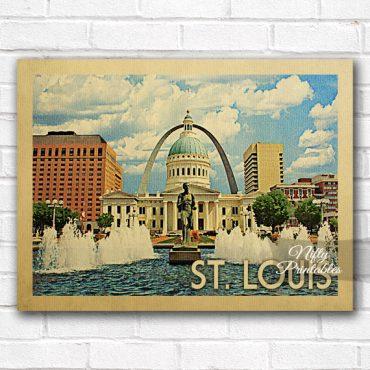 St Louis Vintage Travel Poster