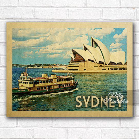 Sydney Vintage Travel Poster