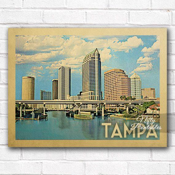 Tampa Vintage Travel Poster