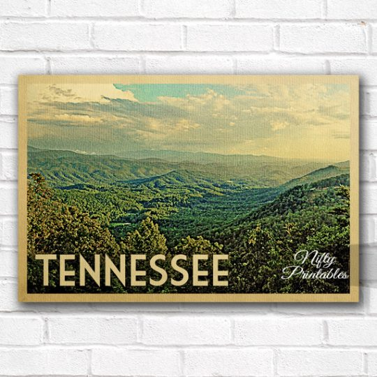 Tennessee Vintage Travel Poster