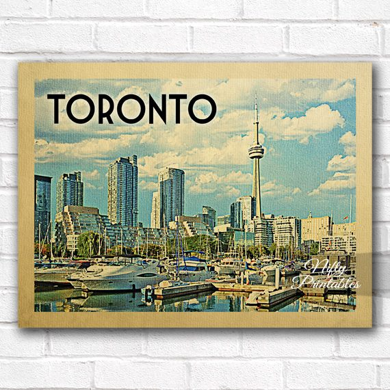 Toronto Vintage Travel Poster