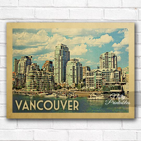 Vancouver Vintage Travel Poster