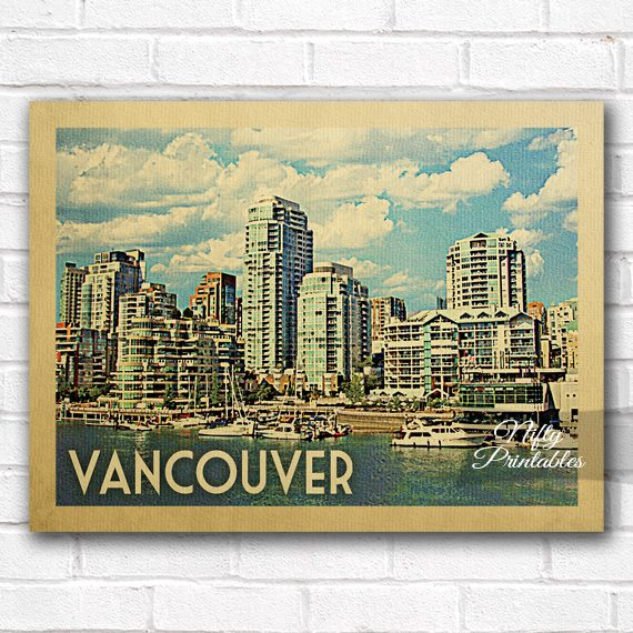 Vancouver Vintage Travel Poster