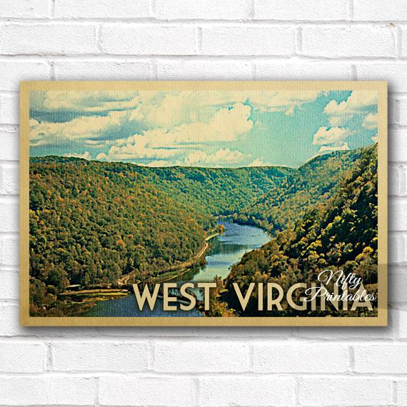 West Virginia Vintage Travel Poster