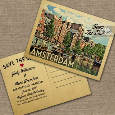 Amsterdam Save The Date PRINTED