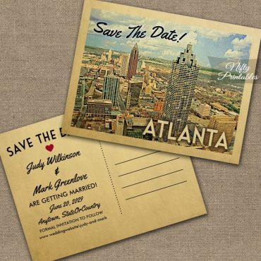 Atlanta Georgia Save The Date PRINTED