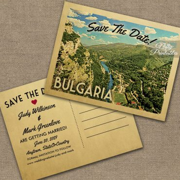 Bulgaria Save The Date PRINTED