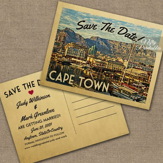 Cape Town Save The Date PRINTED