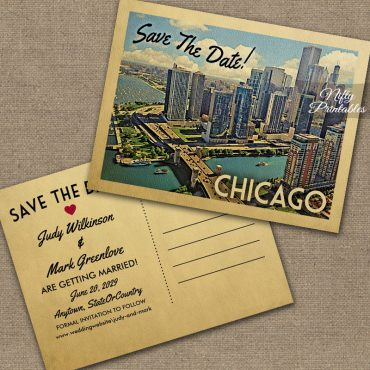 Chicago Illinois Save The Date PRINTED