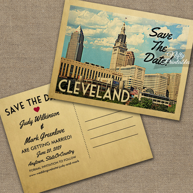 Cleveland Ohio Save The Date PRINTED