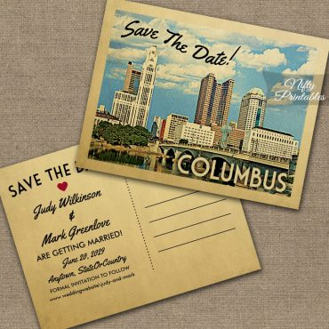 Columbus Ohio Save The Date PRINTED