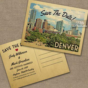 Denver Colorado Save The Date PRINTED