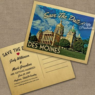 Des Moines Save The Date PRINTED