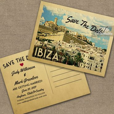 Ibiza Save The Date PRINTED