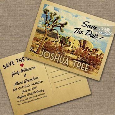 Joshua Tree Save The Date PRINTED