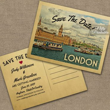 London Save The Date PRINTED