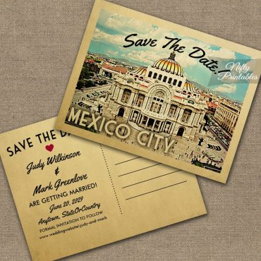 Mexico City Save The Date PRINTED