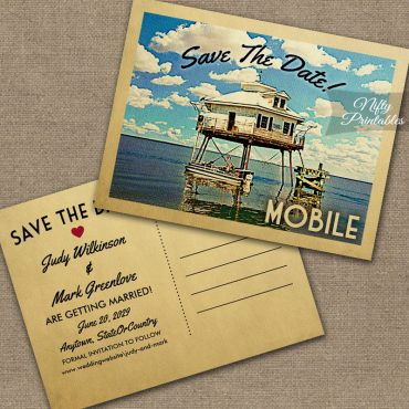 Mobile Alabama Save The Date PRINTED