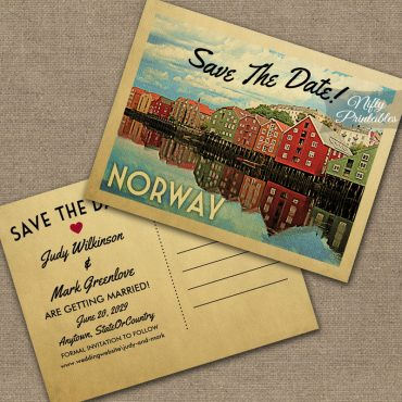 Norway Save The Date PRINTED
