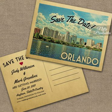 Orlando Florida Save The Date PRINTED