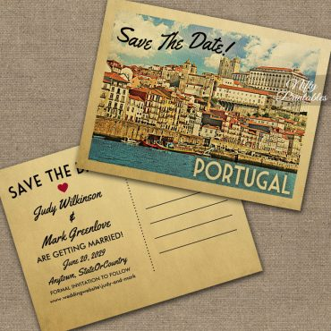 Portugal Save The Date PRINTED