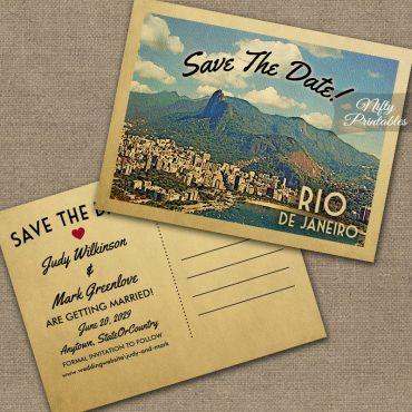 Rio de Janeiro Save The Date PRINTED