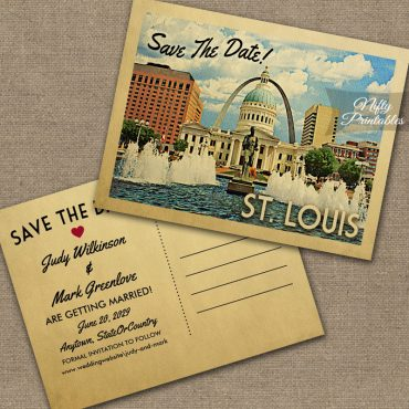 Saint Louis Missouri Save The Date St PRINTED