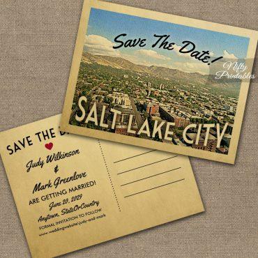 Salt Lake City Utah Save The Date PRINTED