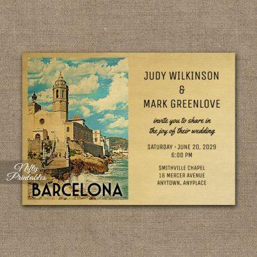 Barcelona Wedding Invitation PRINTED