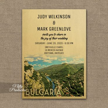 Bulgaria Wedding Invitation PRINTED