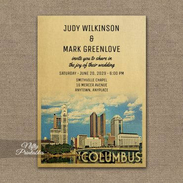 Columbus Ohio Wedding Invitations PRINTED