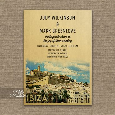 Ibiza Wedding Invitation PRINTED
