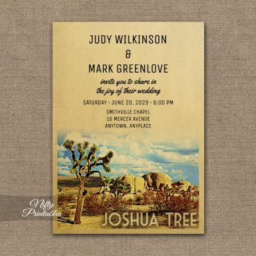 Joshua Tree Wedding Invitations PRINTED