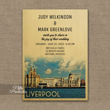 Liverpool Wedding Invitation PRINTED