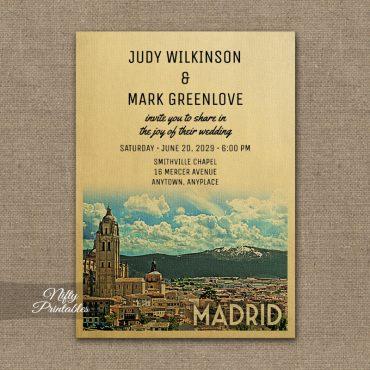 Madrid Wedding Invitations PRINTED