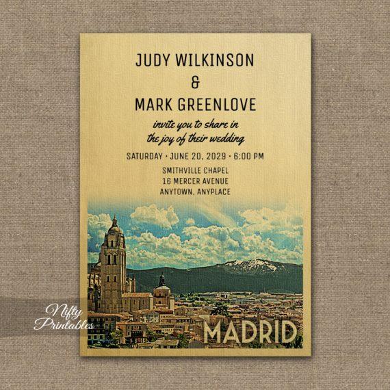 Madrid Wedding Invitation PRINTED