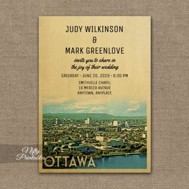 Ottawa Wedding Invitation PRINTED