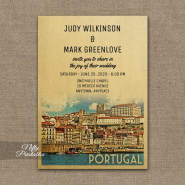 Portugal Wedding Invitation PRINTED