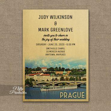 Prague Wedding Invitation PRINTED