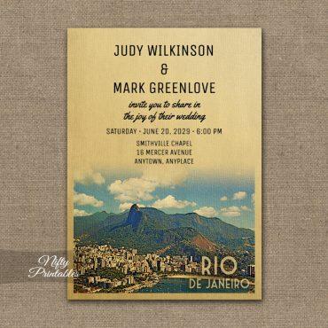 Rio de Janeiro Wedding Invitation PRINTED