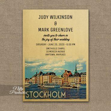 Stockholm Wedding Invitation PRINTED